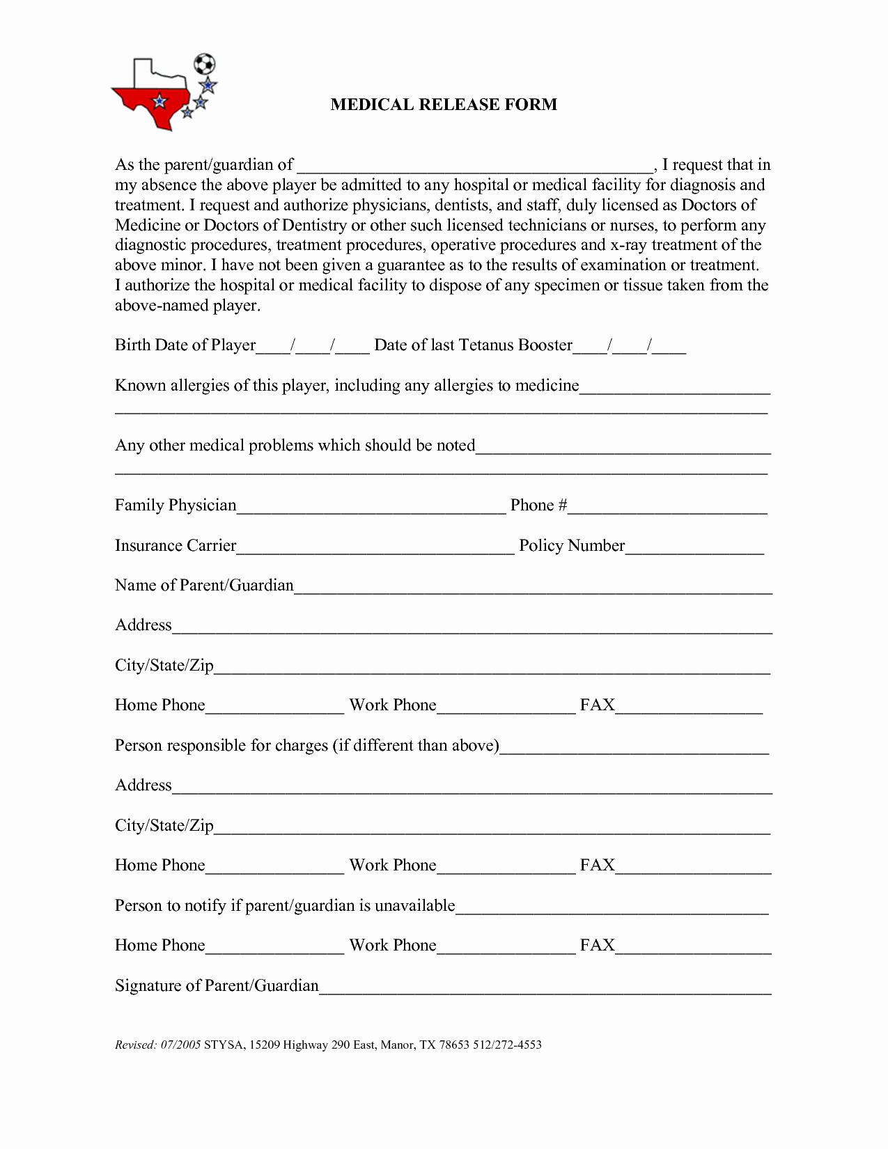 Emergency Room Release form Template Unique Best S Of Medical Release Back to Work Work Release