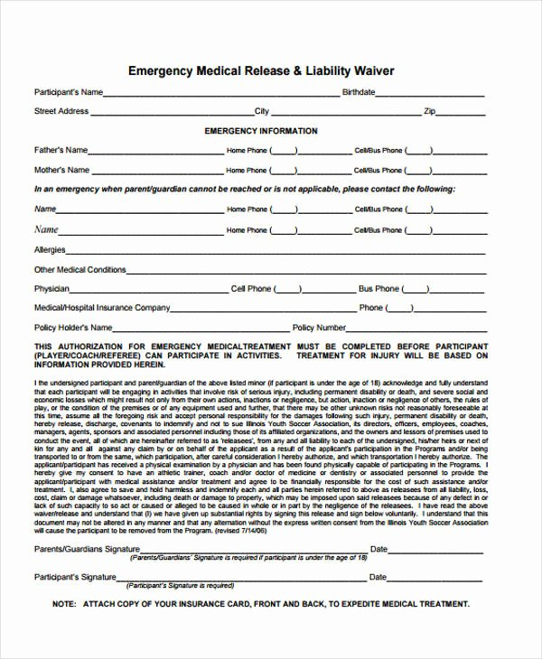 Emergency Room Release Papers Beautiful 21 Emergency Release form Example