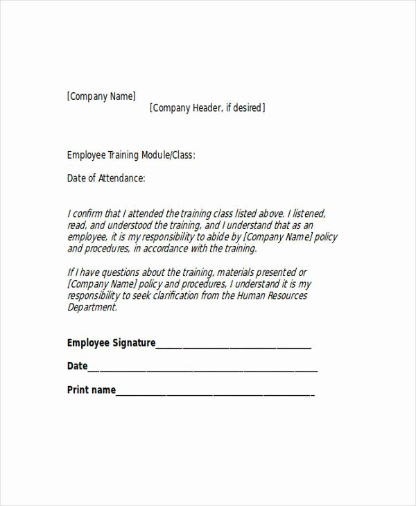 Employee Acknowledgement form Template Unique 44 Acknowledgement Letter Examples & Samples Doc