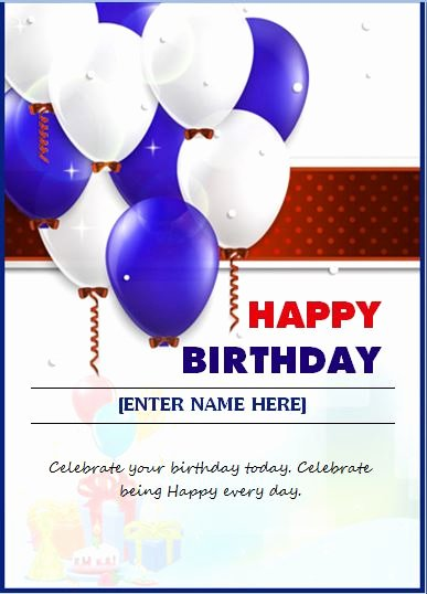 Employee Birthday List Template Lovely Happy Birthday Wishing Card