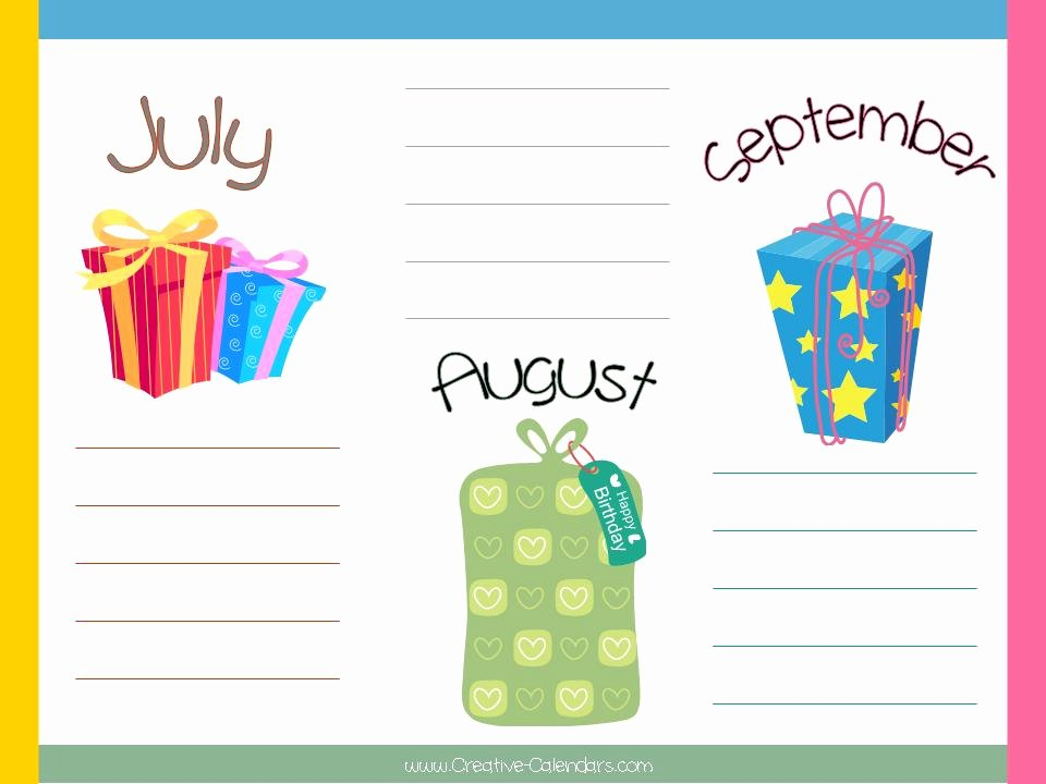 Employee Birthday List Template Unique 8 Best Of Fice Birthday List Printable