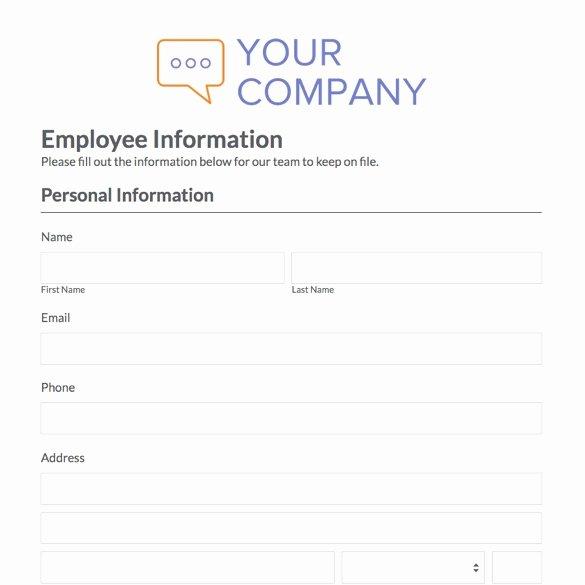 Employee Contact Information form Fresh S Basic Contact Information Sheet Printable Human