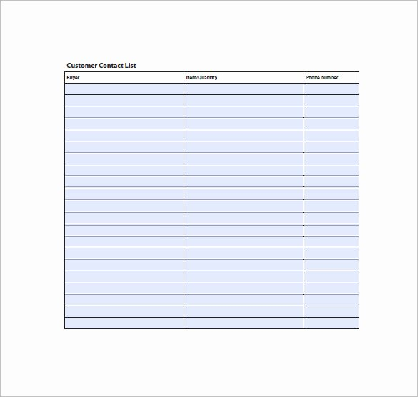Employee Contact List Template Lovely Contact List Template 19 Free Sample Example format
