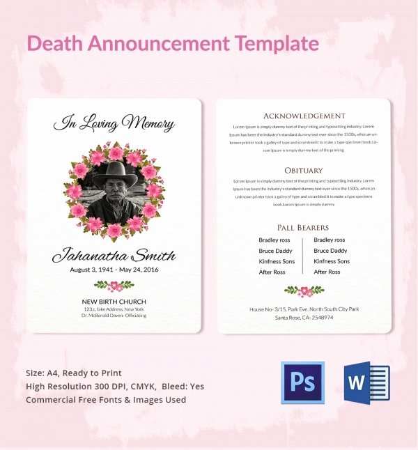 Employee Death Announcement Template Beautiful Sample Of Announcement