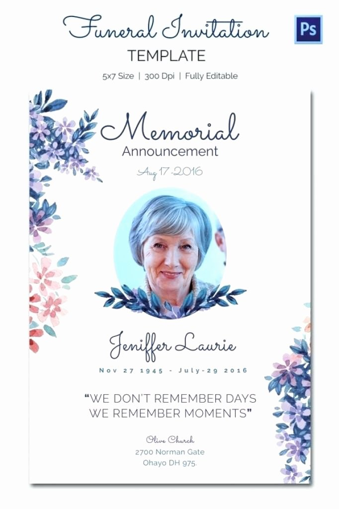 Employee Death Announcement Template Elegant 15 Funeral Notice Templates