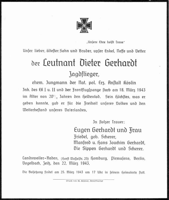 Employee Death Announcement Template Elegant Dieter Gerhardt 1943 2 Jg1
