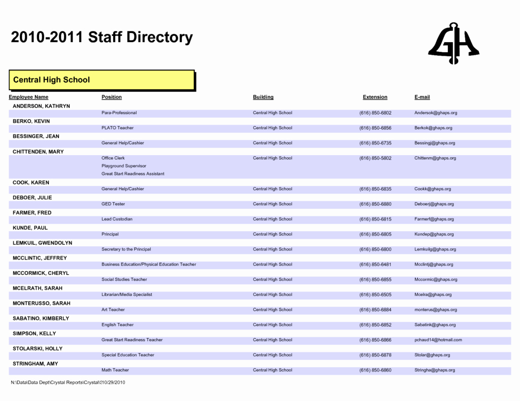 Employee Directory Template Inspirational 28 Of Staff Phone List Template