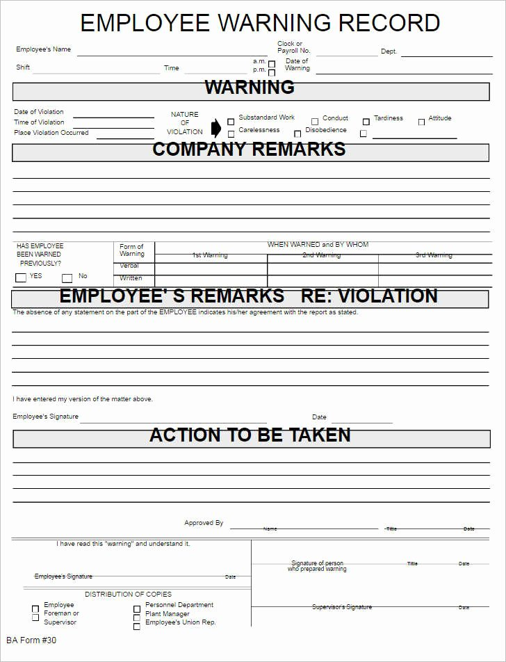 Employee Disciplinary form Template Free Lovely 26 Employee Write Up form Templates Free Word