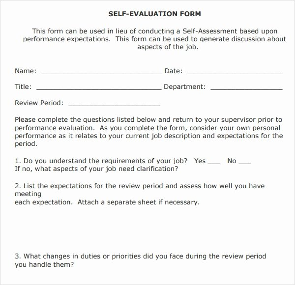 Employee Expectations Template Beautiful 8 Employee Review Templates Pdf Word Pages