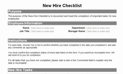 Employee Expectations Template Beautiful Human Resource forms for the Entire Employee Lifecycle