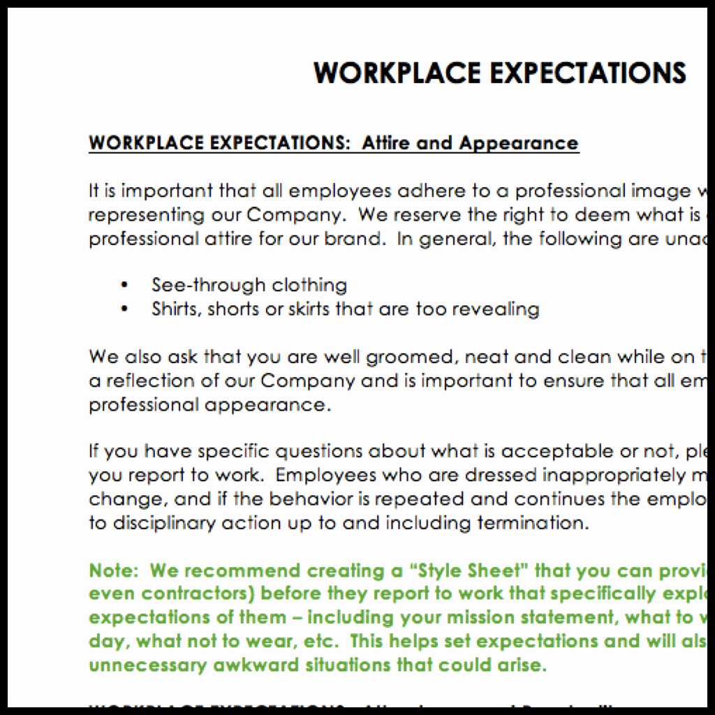 Employee Expectations Template Lovely Employee Handbook Template – now Available – Sage Wedding Pros