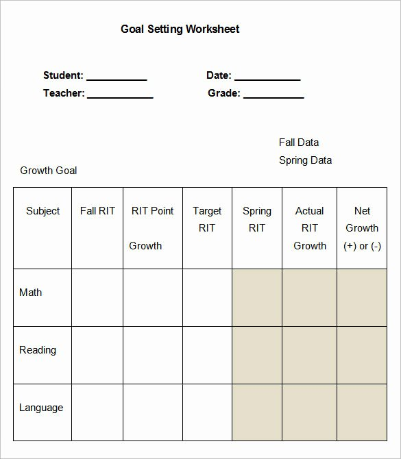 Employee Goal Setting Template Awesome 8 Goal Setting Worksheet Templates – Free Word Pdf