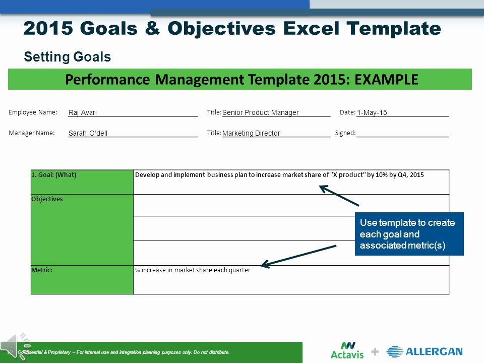 Employee Goal Setting Template Awesome Goals & Objectives Setting Ppt Video Online