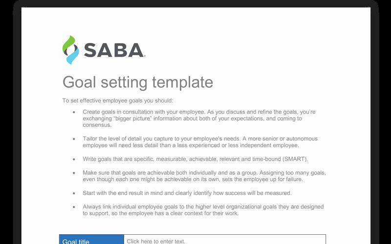 Employee Goal Setting Template Fresh Employee Goal Setting Template
