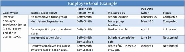 Employee Goal Setting Template Luxury 6 Tips for Managing Employee Goals Work