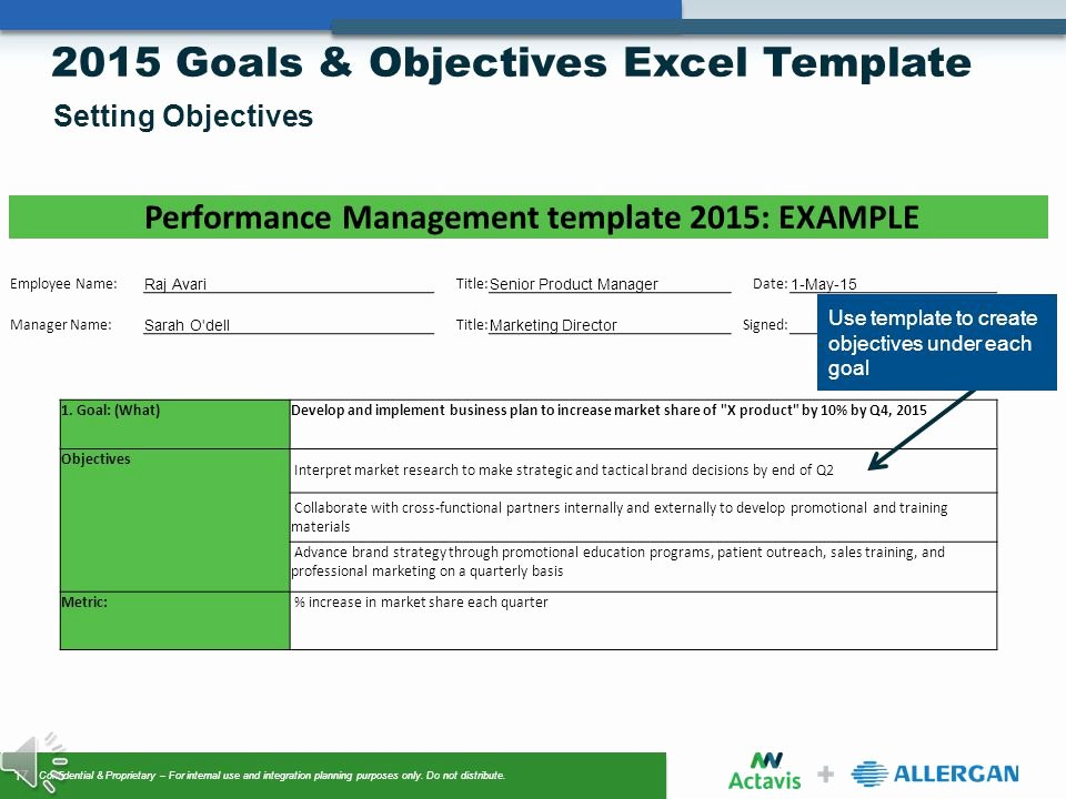 Employee Goal Setting Template Luxury Goals & Objectives Setting Ppt Video Online