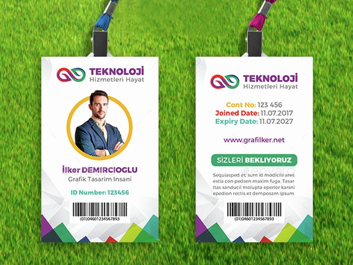Employee Id Card Template Free Download Awesome 15 Best Id Card Template Design In Psd and Ai Designyep