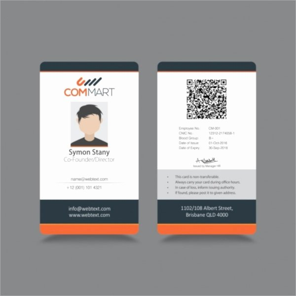 Employee Id Card Template Free Download Awesome 21 Id Cards
