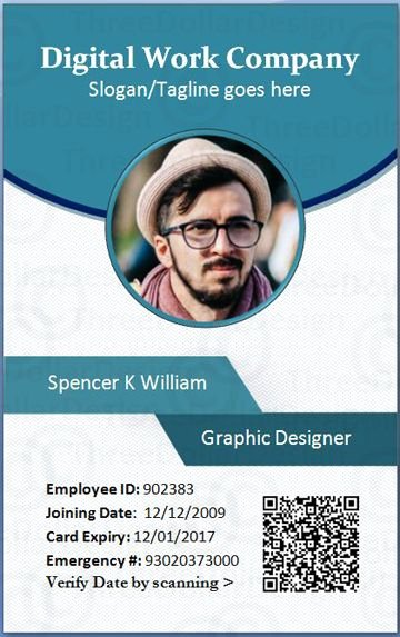 Employee Id Card Template Free Download Awesome Employee Card format In Word
