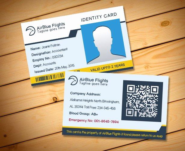 Employee Id Card Template Free Download Beautiful 2 Free Pany Employee Identity Card Design Templates
