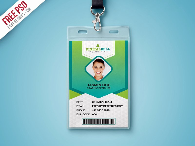 Employee Id Card Template Free Download Beautiful Multipurpose Identity Card Template Psd Download