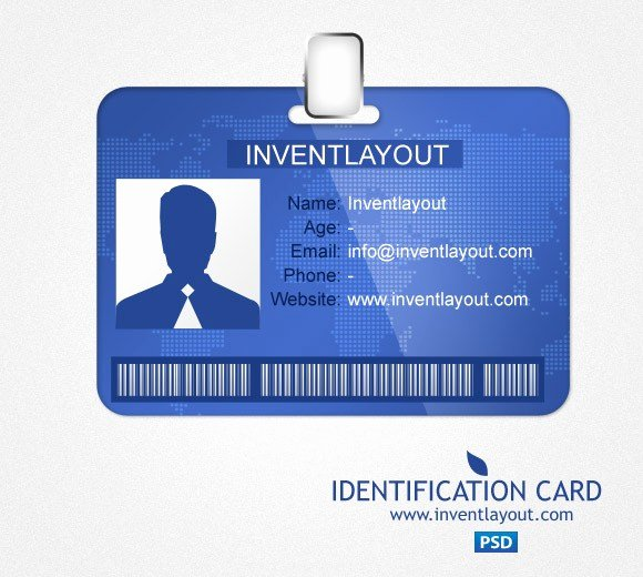 Employee Id Card Template Free Download Best Of Download Identification Card Psd