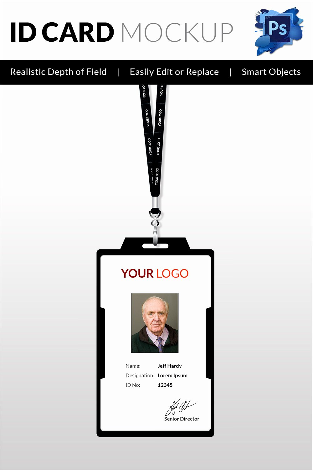 Employee Id Card Template Free Download Elegant 18 Id Card Templates – Free Psd Documents Download