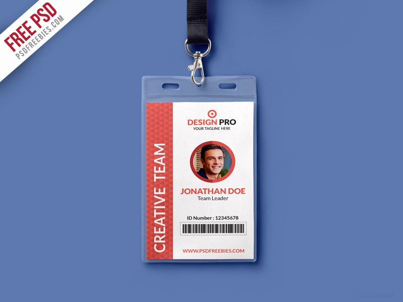 Employee Id Card Template Free Download Fresh Free Psd Fice Identity Card Template Psd by Psd