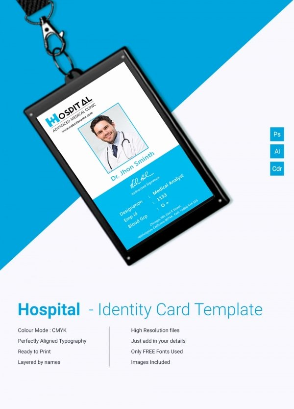 Employee Id Card Template Free Download Inspirational 18 Id Card Templates – Free Psd Documents Download