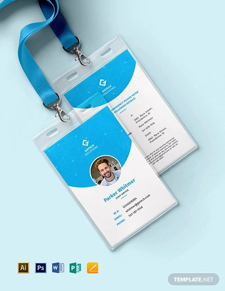 Employee Id Card Template Free Download Lovely 38 Id Card Templates Psd Eps Png