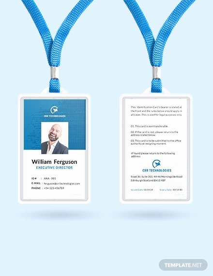 Employee Id Card Template Free Download Luxury 35 Free Id Card Templates