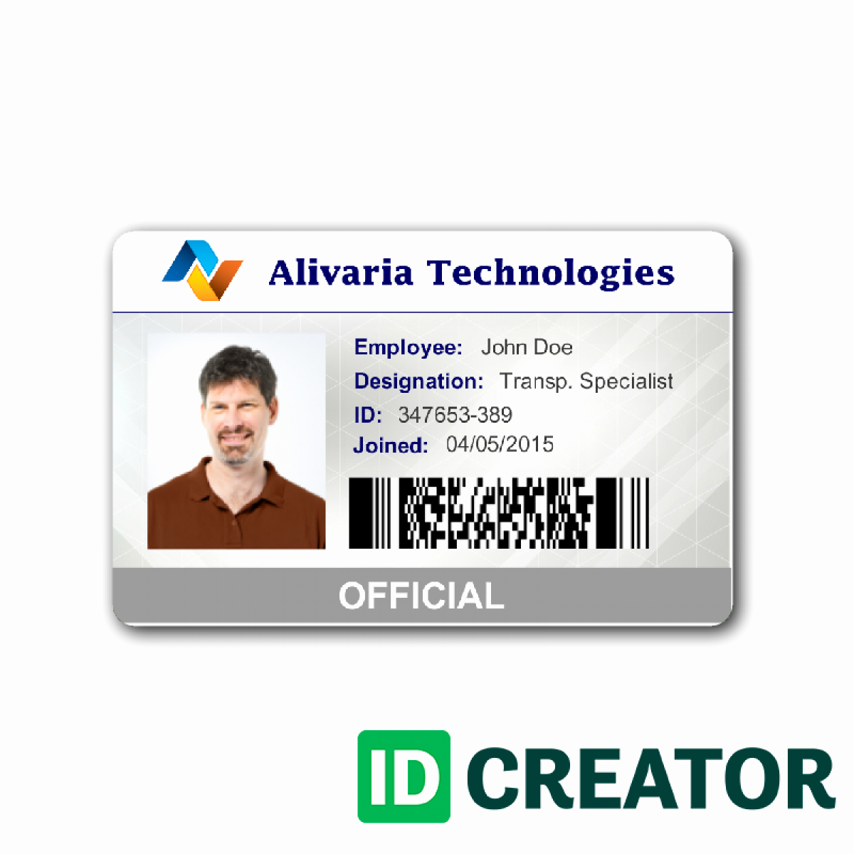 Employee Id Card Template Free Download Luxury Employee Id Card Template Image 1 Templates