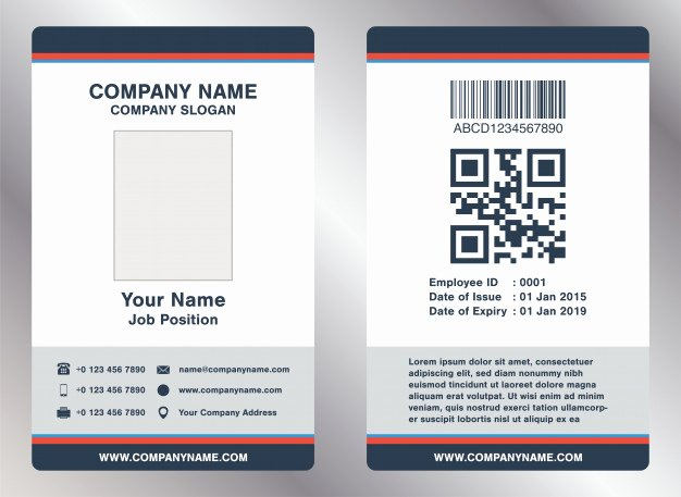 Employee Id Card Template Free Download Luxury Simple Landscape Employee Id Card Template Vector Vector