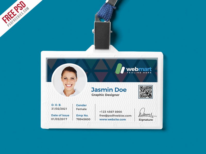 Employee Id Card Template Free Download New Free Psd Fice Id Card Design Psd by Psd Freebies