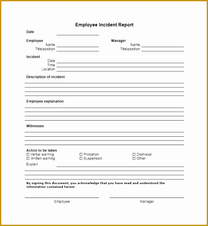 Employee Injury Report Inspirational 5 Workplace Injury Report form Template
