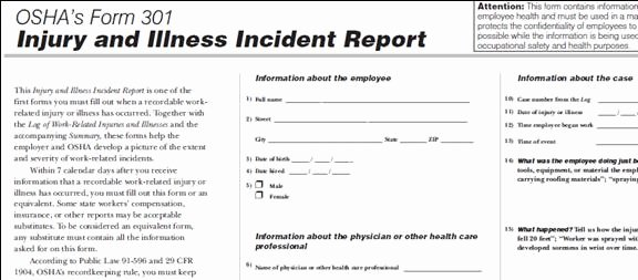 Employee Injury Report New 26 Of Dental Injury Template