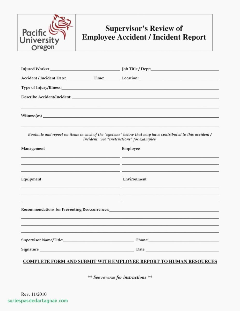 Employee Injury Report Unique How to Leave form to Document Employee