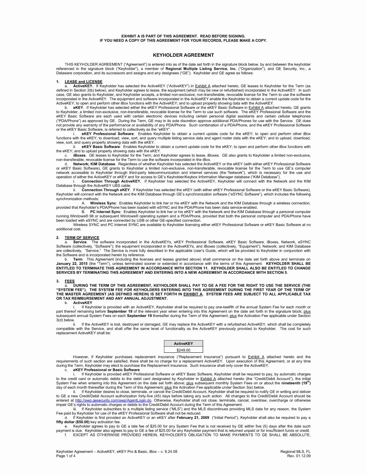 Employee Key Agreement form Beautiful Best S Of Key Agreement Template Employee Key