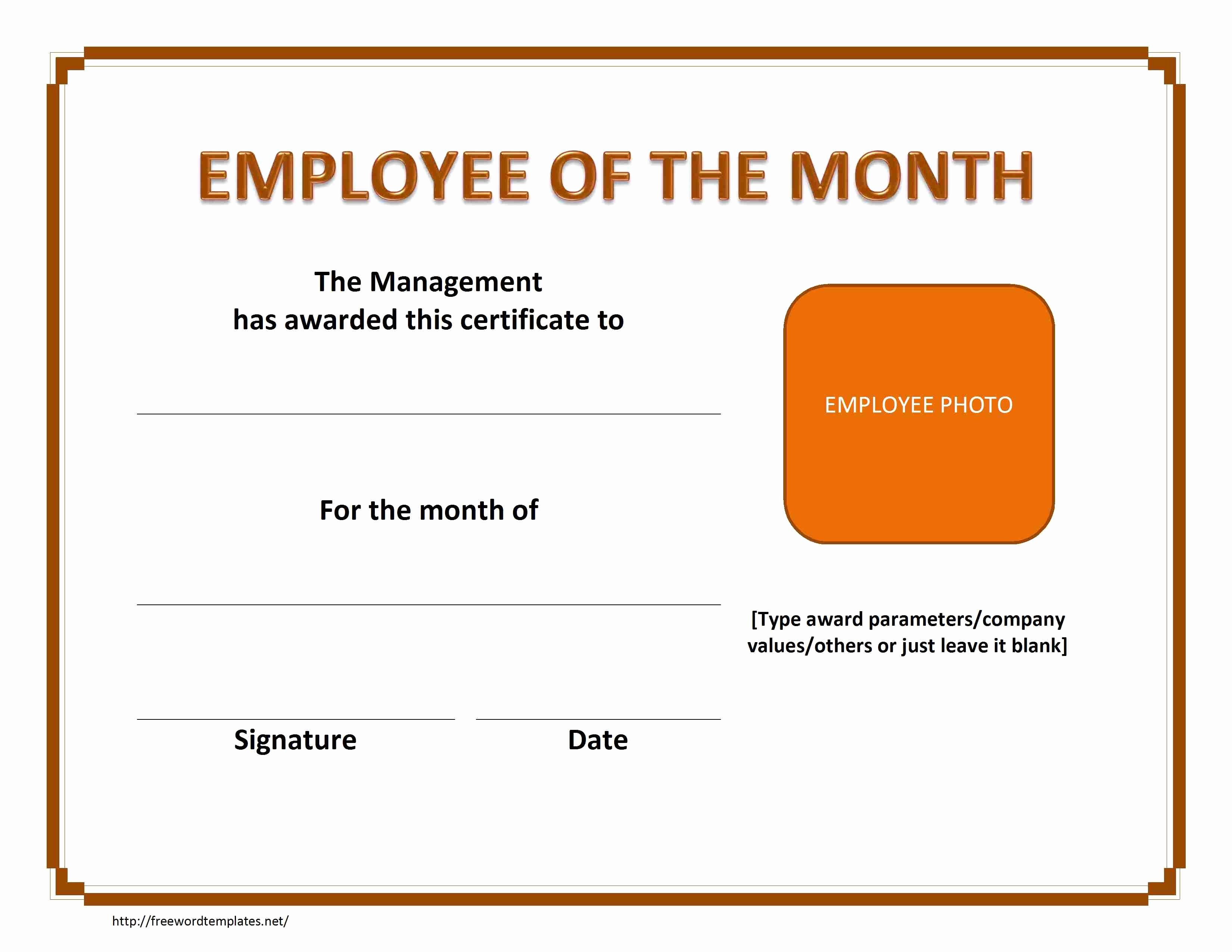 Employee Of the Month Nomination form Template New 37 Awesome Award and Certificate Design Templates for