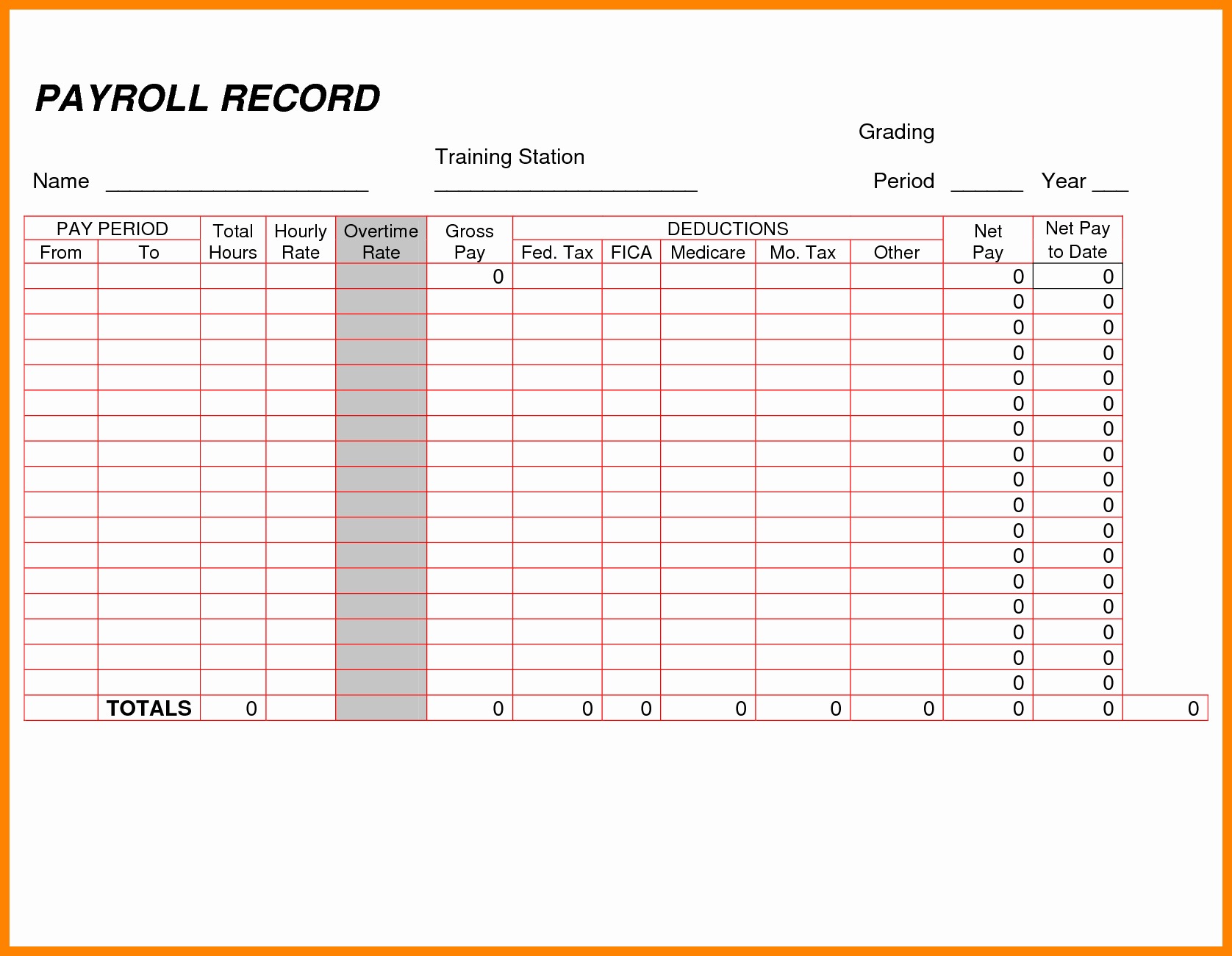Employee Payroll Ledger Template Inspirational 8 Payroll Ledger Template