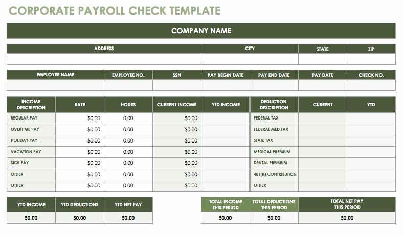 Employee Payroll Ledger Template Luxury 15 Free Payroll Templates