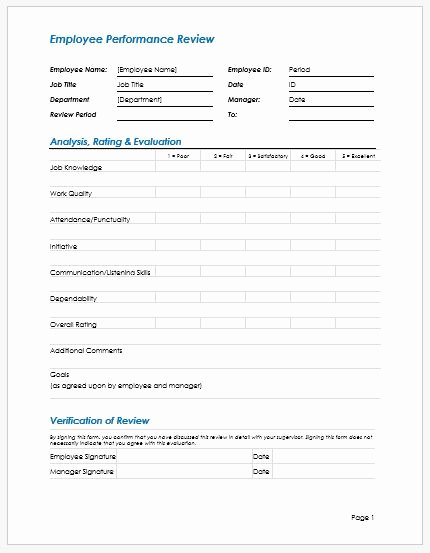 Employee Performance Evaluation form Excel Best Of Employee Performance Review Write Up Template