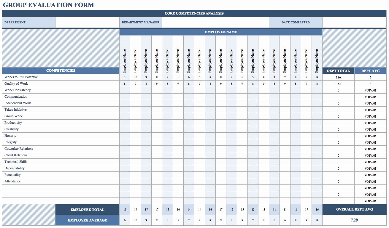 Employee Performance Evaluation form Excel Best Of Free Employee Performance Review Templates Smartsheet