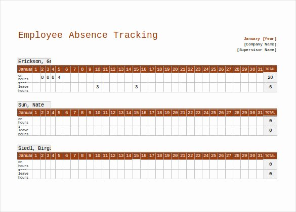 Employee Performance Tracking Template Excel Fresh 10 Employee Tracking Templates – Free Sample Example