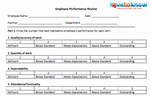 Employee Performance Tracking Template Excel Inspirational 70 Fabulous & Free Employee Performance Review Templates