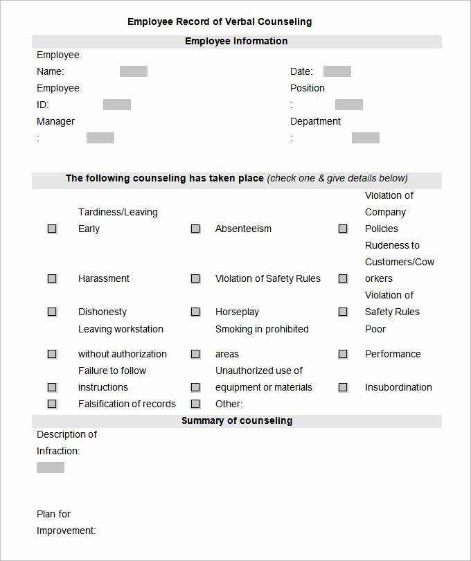 Employee Personnel File Template Beautiful Employee Record Templates 26 Free Word Pdf Documents