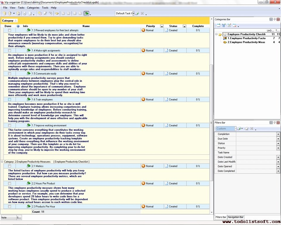 Employee Productivity Tracking Template Best Of Employee Productivity Checklist to Do List organizer