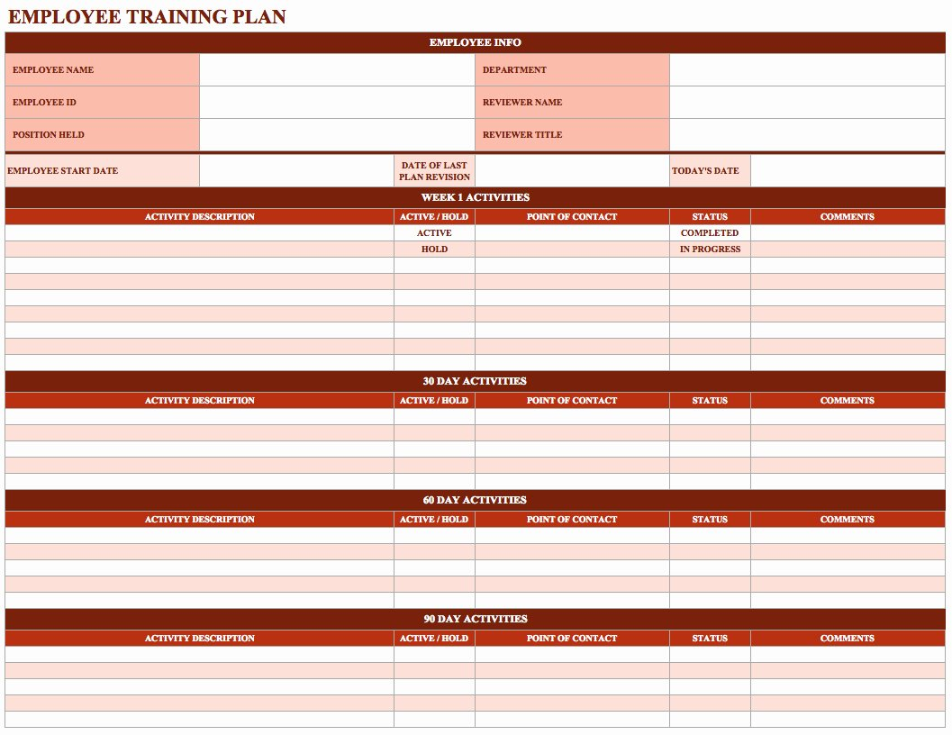 Employee Productivity Tracking Template Unique Employee Training Schedule Template In Ms Excel Excel