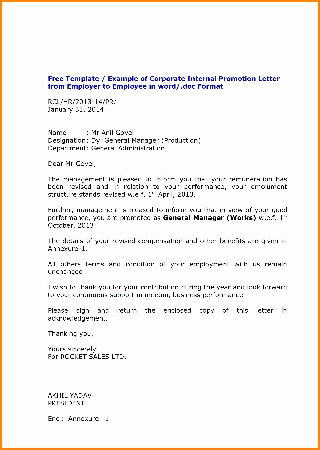 Employee Promotion Announcement Email Sample Beautiful Employee Promotion Announcement Samples Pics – Job