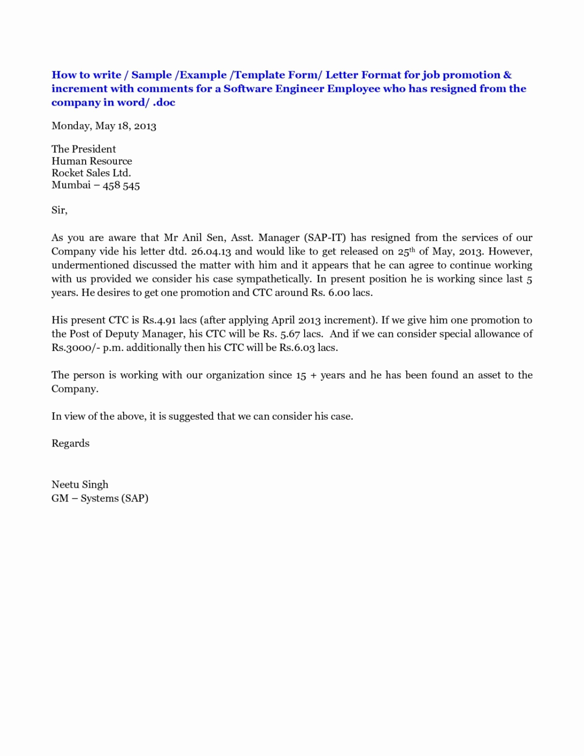 Employee Promotion Announcement Email Sample Fresh New Allowance Letter to Staff